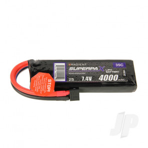 Radient LiPo Battery 2S 4000mAh 7.4V 35C Deans HCT T-style Connector Plug