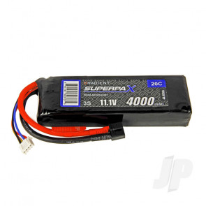 Radient LiPo Battery 3S 4000mAh 11.1V 20C Deans HCT T-style Connector Plug
