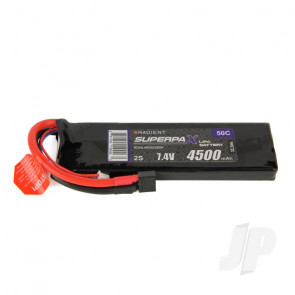 Radient LiPo Battery 2S 4500mAh 7.4V 50C Deans HCT T-style Connector Plug