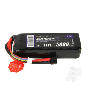Radient LiPo Battery 3S 5000mAh 11.1V 25C Deans HCT T-style Connector