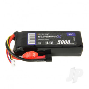 Radient LiPo Battery 3S 5000mAh 11.1V 50C Deans HCT T-style Connector