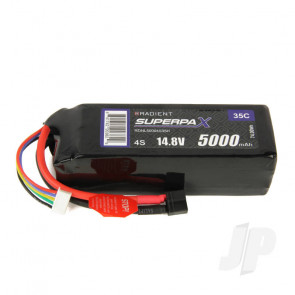 Radient LiPo Battery 4S 5000mAh 14.8V 35C Deans HCT T-style Connector