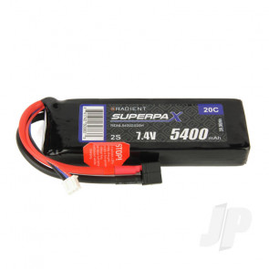 Radient LiPo Battery 2S 5400mAh 7.4V 20C Deans HCT T-style Connector