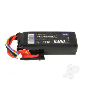 Radient LiPo Battery 3S 6400mAh 11.1V 25C Deans HCT T-style Connector