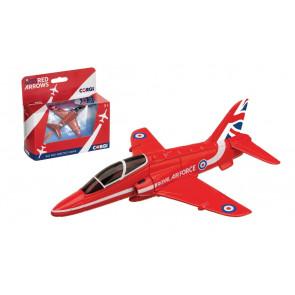 Red Arrows BAE Hawk Diecast Metal Model Aeroplane Corgi Aviation Showcase