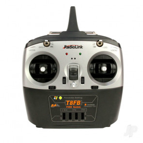 RadioLink T8FB 2.4GHz 8-Channel Transmitter with 2x R8EF Receivers (Mode 1)