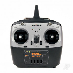 RadioLink T8FB-BT 2.4GHz 8-Channel Transmitter with Bluetooth and 2x R8EF Receivers (Mode 1)