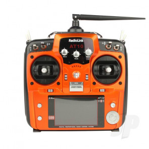 RadioLink AT10II 2.4GHz 12-Channel Transmitter with Receiver (Orange) (Mode 1)
