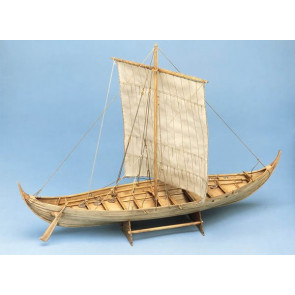 Roar Ege Viking Longboat - 569mm 1:25 Billing Boats Wooden Ship Kit B703