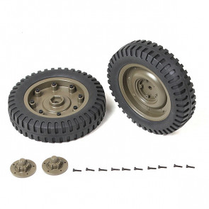 Roc Hobby 1:6 1941 Mb Scaler Front Wheels Assembly (1 Pair)