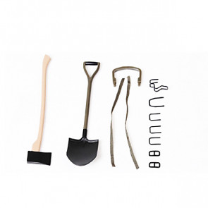 Roc Hobby 1:6 1941 Mb Scaler Axe And Shovel Set