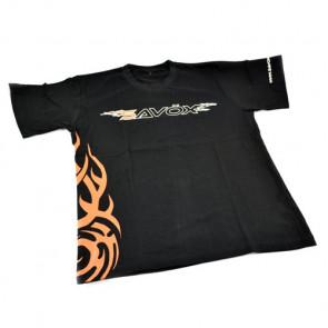 SAVOX T-SHIRT BLACK (XXL) (UK-XL) 2015 FLAME DESIGN