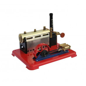 Mamod SP6 Stationary Live Steam Engine - Double Acting Pistons & Supply Valve