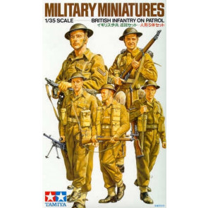 Tamiya WWII British Infantry On Patrol 1:35 | 35223 Plastic Model Military Kit