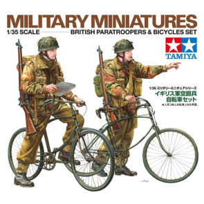 Tamiya WWII British Paratroopers & Bicycles Set 1:35 | 35333 Plastic Model Military Kit