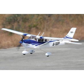 Top Gun Park Flite Cessna 182 RTF Trainer Blue with 2.4GHz Mode 2 Radio