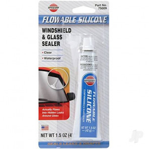 VersaChem 1.5oz Windshield & Glass Sealer Flowable Silicone (Tube, Carded)