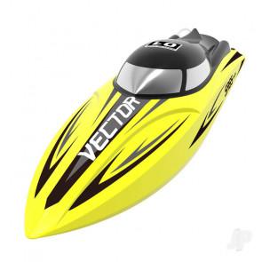 Volantex Vector SR65 Brushed RTR RC Racing Boat (Yellow)