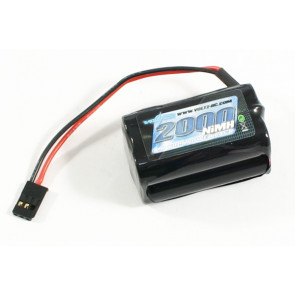 Voltz 2000mAh 4.8V NiMH Rx Receiver Square Battery Pack for RC Car Plane Boat
