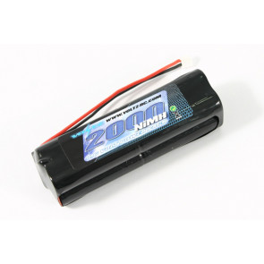 Voltz 9.6V 2000maH Square Transmitter Battery fits JR, Spektrum, Etronix, Tamco Radios