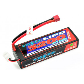 Voltz 3200mAh 2S 7.4v 40C Hard Case LiPo Stick Battery