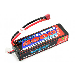 Voltz 4000mAh 2S 7.4v 50C Hard Case LiPo RC Car Battery w/Deans Connector Plug
