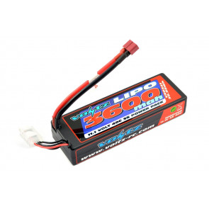 Voltz 3600mAh 3S 11.1v 40C Hard Case LiPo RC Car Battery (2S Size!) w/Deans Plug