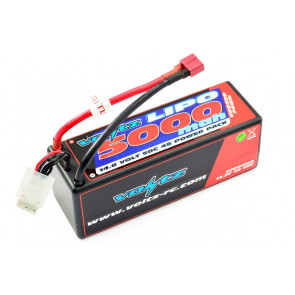 Voltz 5000mAh 4S 14.8V 50C Hard Case LiPo RC Car Battery w/XT90 Connector Plug