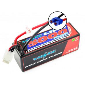 Voltz 5000mAh 4S 14.8V 50C Hard Case LiPo RC Car Battery w/EC5 Connector Plug