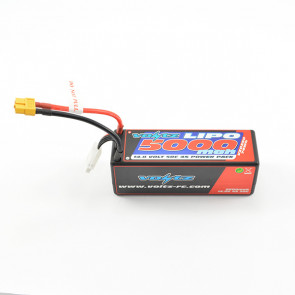 Voltz 5000mAh 4S 14.8V 50C Hard Case LiPo RC Car Battery w/XT60 Connector Plug