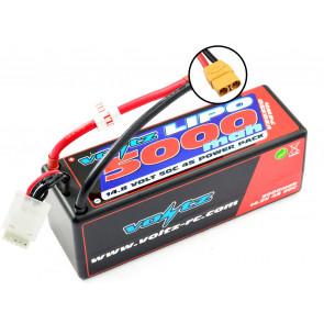 Voltz 5000mAh 4S 14.8V 50C Hard Case LiPo RC Car Battery w/XT90 Connector Plug