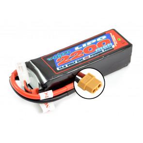 Voltz 2200mAh 4S 14.8V 30C LiPo RC Battery w/XT60 Connector Plug