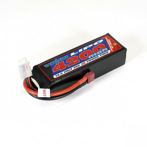 Voltz 4200mAh 4S 14.8V 30C LiPo RC Battery w/Deans Connector Plug