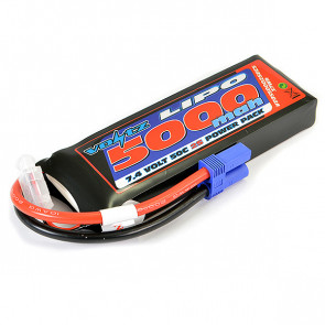 Voltz 5000mAh 2S 7.4V 50C LiPo RC Battery w/EC5 Connector Plug