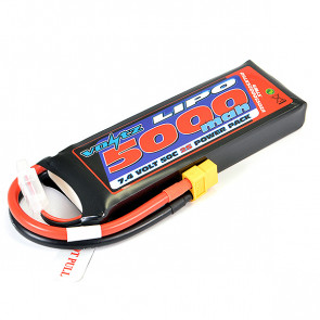 Voltz 5000mAh 2S 7.4V 50C LiPo RC Battery w/XT60 Connector Plug