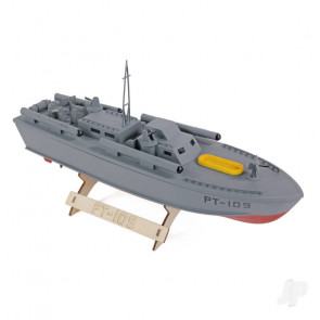 PT-109 Patrol Torpedo Boat (410mm) | Wood RC Model Kit