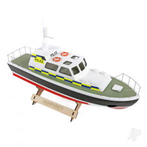 Humphrey Police Launch Boat (410mm) | Wood RC Model Kit