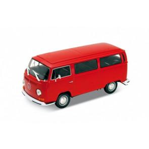 Welly Diecast 1/24 | 1972 Volkswagen VW T2 Bus | Red Model Camper Microbus Van