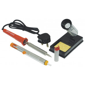 High Quality 80W Soldering Iron Kit with Stand, Sponge, Desolder Pump and Solder Wire