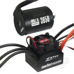 ZTW 1:10 Beast SLL Combo with 60A ESC + 4P SL 3650B 3450Kv Motor